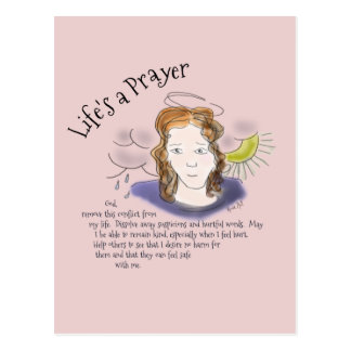 Life's a Prayer: Conflict Postcard