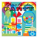 Life's a Rainbow Birthday Invitation