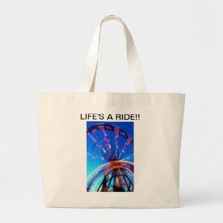LIFE'S A RIDE!! TOTE BAG