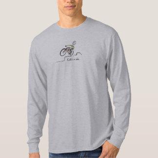 Life's a ride Mountain Biker Guy Stylized Tee Shirt