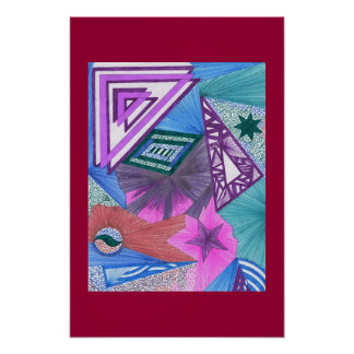 Lifes a triangle poster