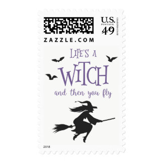 Life's A Witch and Then You Fly Postage