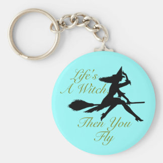 Life's  a Witch Basic Round Button Keychain