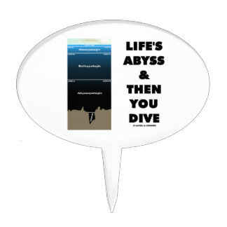 Life's Abyss And Then You Dive (Pelagic Zone) Cake Topper