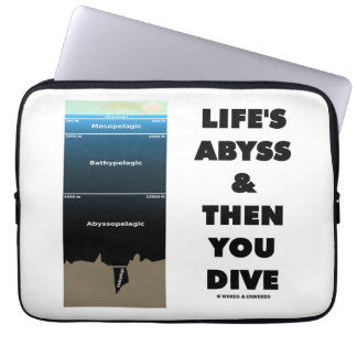 Life's Abyss And Then You Dive (Pelagic Zone) Computer Sleeves