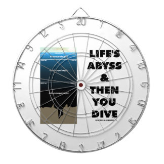 Life's Abyss And Then You Dive (Pelagic Zone) Dartboard With Darts
