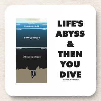 Life's Abyss And Then You Dive (Pelagic Zone) Drink Coaster