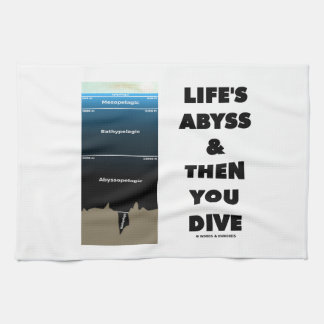 Life's Abyss And Then You Dive (Pelagic Zone) Hand Towels