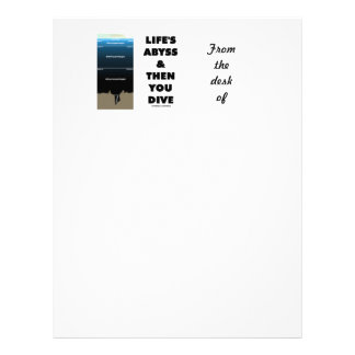 Life's Abyss And Then You Dive (Pelagic Zone) Letterhead