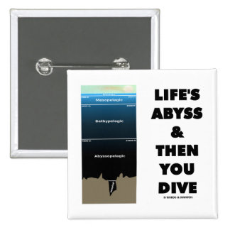 Life's Abyss And Then You Dive (Pelagic Zone) Pinback Button