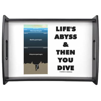 Life's Abyss And Then You Dive (Pelagic Zone) Serving Platter