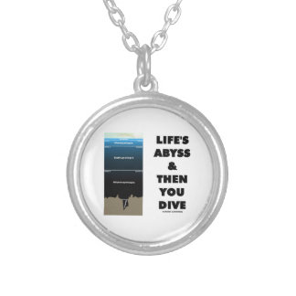 Life's Abyss And Then You Dive (Pelagic Zone) Round Pendant Necklace