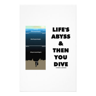 Life's Abyss And Then You Dive (Pelagic Zone) Stationery