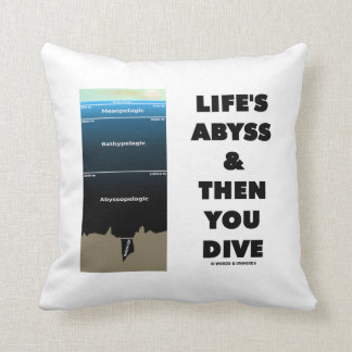 Life's Abyss And Then You Dive (Pelagic Zone) Throw Pillow