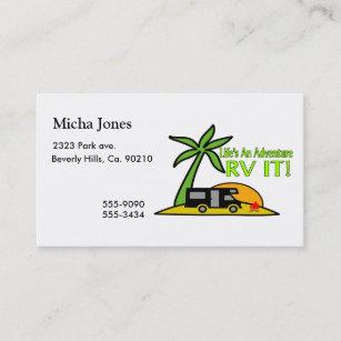 Rv business cards templates zazzle lifes an adventure so rv it business card colourmoves