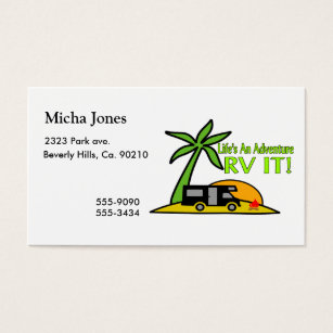 Motorhome business cards templates zazzle lifes an adventure so rv it business card colourmoves