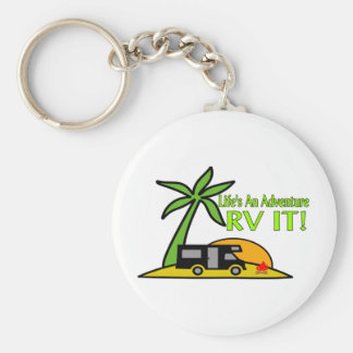 Life's An Adventure So RV It Keychain
