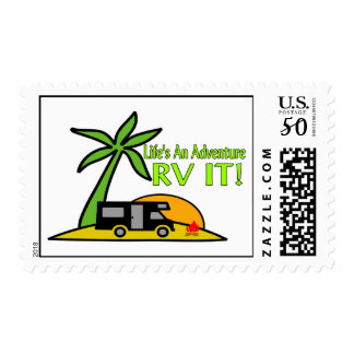 Life's An Adventure So RV It Postage