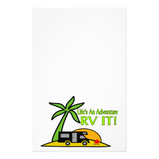 Life's An Adventure So RV It Stationery