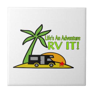 Life's An Adventure So RV It Tile