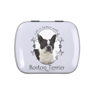 Life's Better Boston Terrier Candy Tin