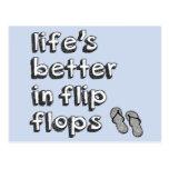Life's Better in Flip Flops Postcard