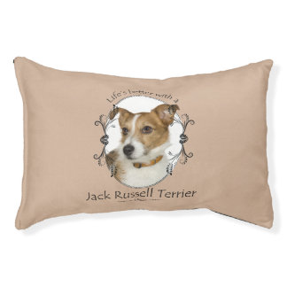 Life's Better Jack Russell Dog Bed Small Dog Bed
