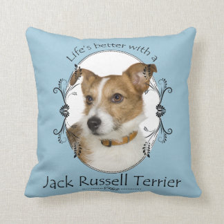 Life's Better Jack Russell Pillow