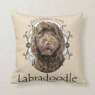 Life's Better Labradoodle Pillow