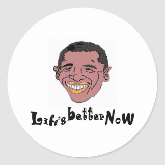 Life's Better Now Classic Round Sticker