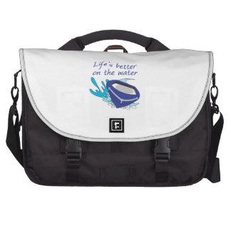 LIFES BETTER ON THE WATER COMMUTER BAG