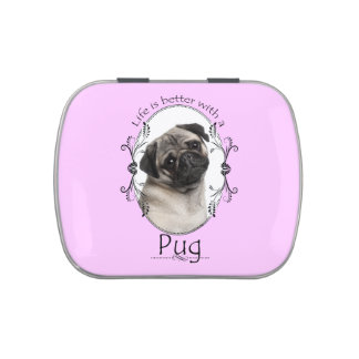 Life's Better Pug Candy Tin