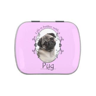 Life's Better Pug Candy Tin