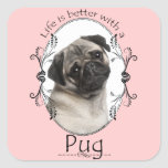 Life's Better Pug Stickers
