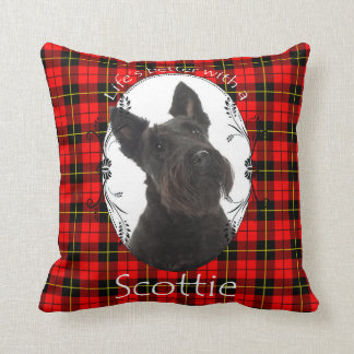 Life's Better Scottie Pillow