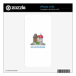 LIFES BETTER SEASIDE iPhone 4 DECAL