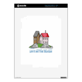 LIFES BETTER SEASIDE DECAL FOR THE iPad 2