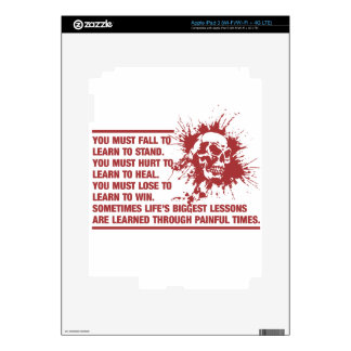 Lifes Biggest Lessons Are Learned Through Pain Decal For iPad 3