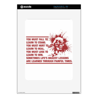 Lifes Biggest Lessons Are Learned Through Pain Decals For iPad