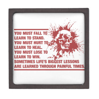 Lifes Biggest Lessons Are Learned Through Pain Jewelry Box