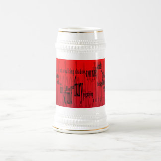'Life's but a Walking Shadow' Macbeth Shakespeare Beer Stein