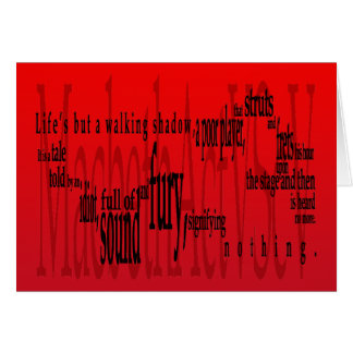 'Life's but a Walking Shadow' Macbeth Shakespeare Greeting Card