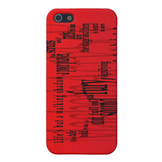 'Life's but a Walking Shadow' Macbeth Shakespeare iPhone 5/5S Covers