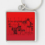 'Life's but a Walking Shadow' Macbeth Shakespeare Silver-Colored Square Keychain