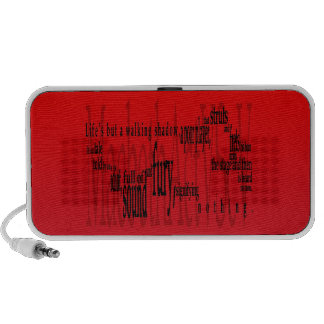 'Life's but a Walking Shadow' Macbeth Shakespeare Mini Speakers