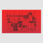 'Life's but a Walking Shadow' Macbeth Shakespeare Rectangular Stickers