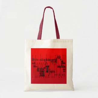 'Life's but a Walking Shadow' Macbeth Shakespeare Tote Bag