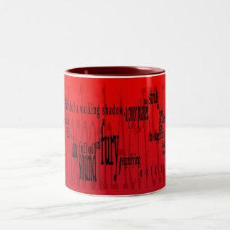 'Life's but a Walking Shadow' Macbeth Shakespeare Two-Tone Coffee Mug