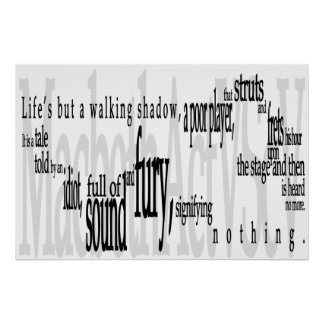 'Life's but a Walking Shadow' Shakespeare Quote Print