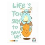 lifes demasiado cortos tarjetas postales